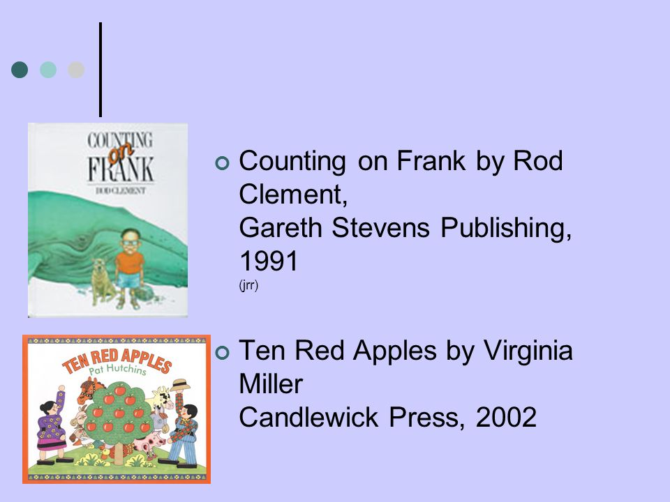 Counting on Frank by Rod Clement, Gareth Stevens Publishing, 1991 (jrr)