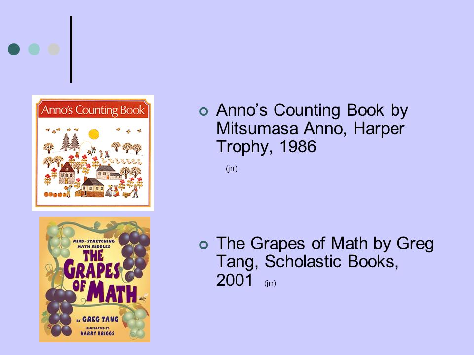 Anno's Counting Book by Mitsumasa Anno, Harper Trophy, 1986 (jrr)