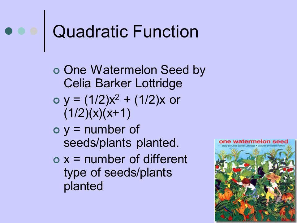 Quadratic Function One Watermelon Seed by Celia Barker Lottridge