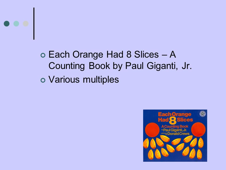 Each Orange Had 8 Slices – A Counting Book by Paul Giganti, Jr.