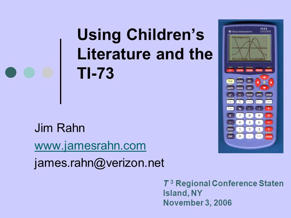 Using Children's Literature and the TI-73