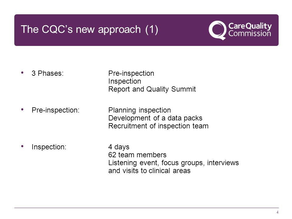 The CQC's new approach (1)