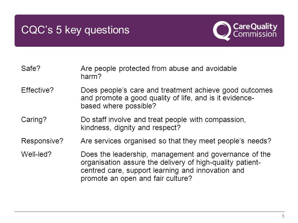 CQC's 5 key questions