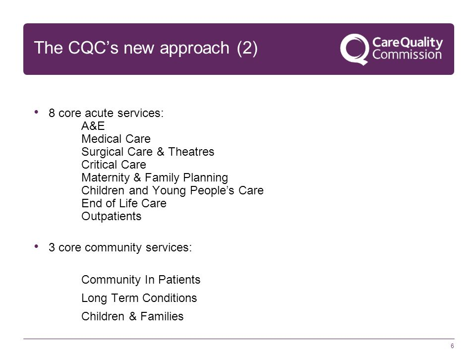 The CQC's new approach (2)