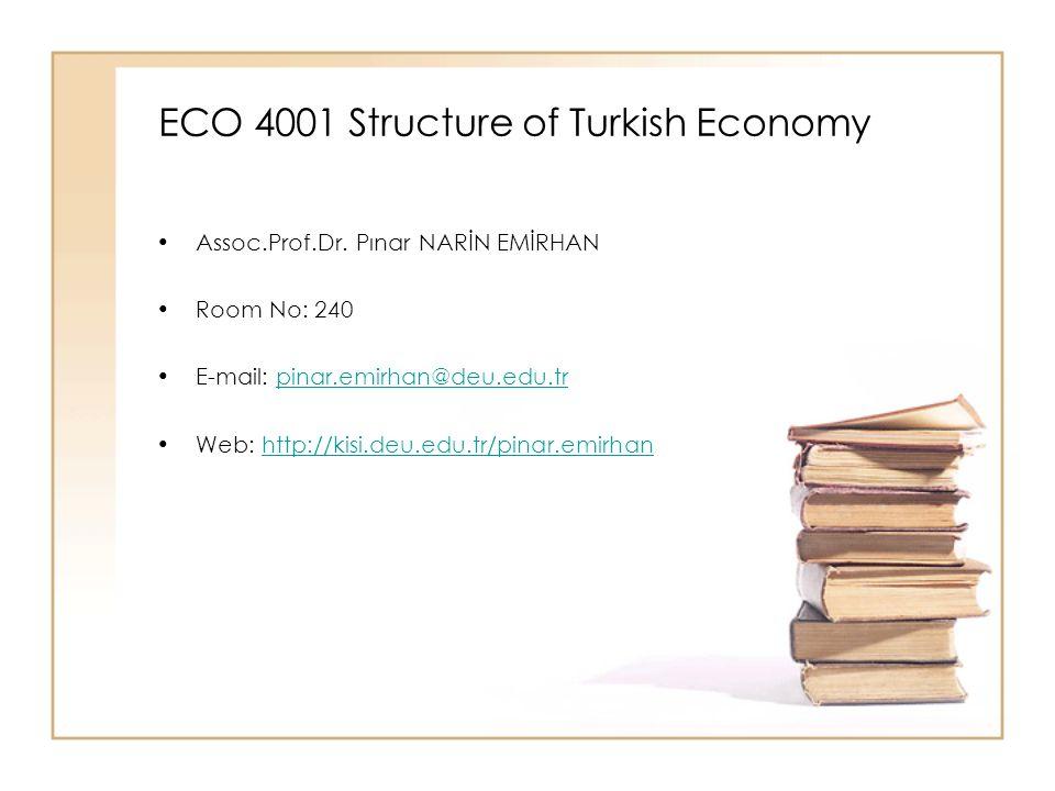 ECO 4001 Structure of Turkish Economy