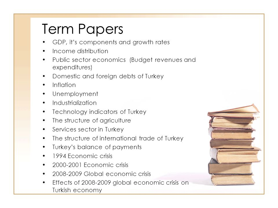 Term Papers GDP, it's components and growth rates Income distribution