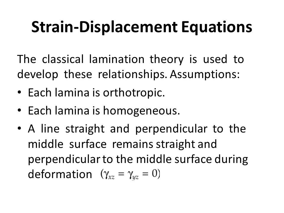 Strain-Displacement Equations