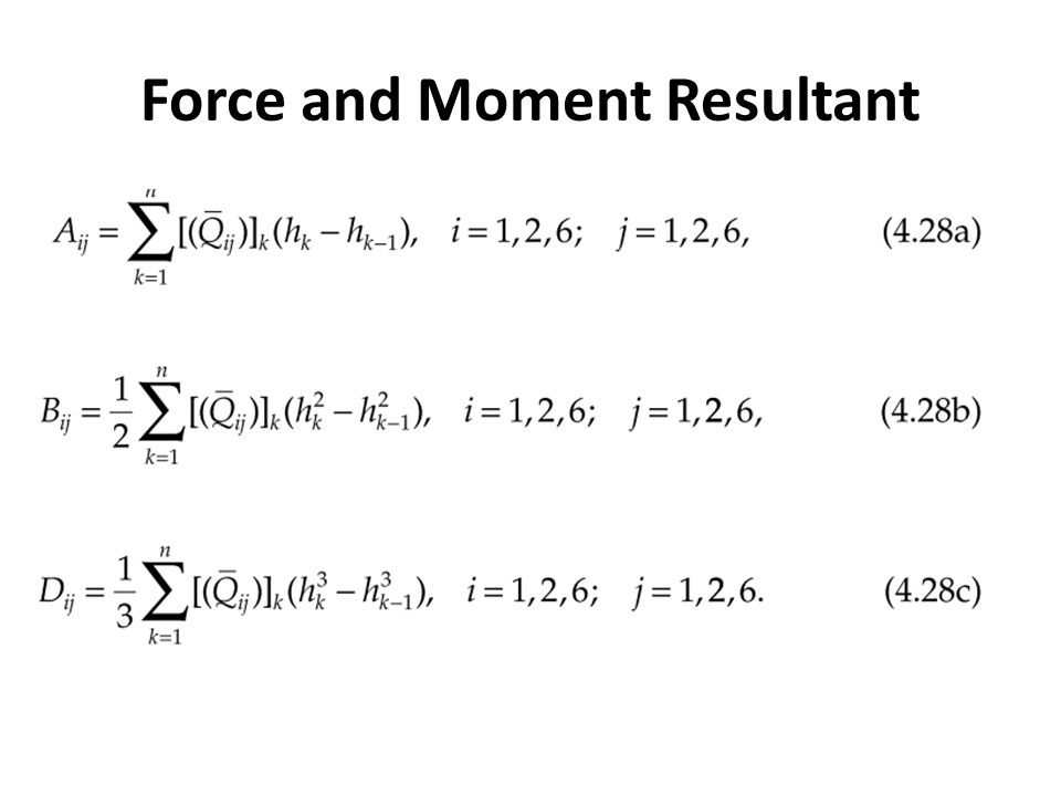 Force and Moment Resultant