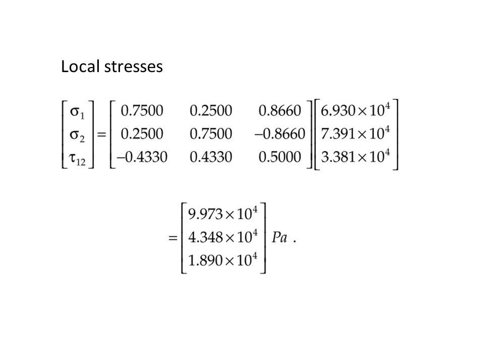 Local stresses