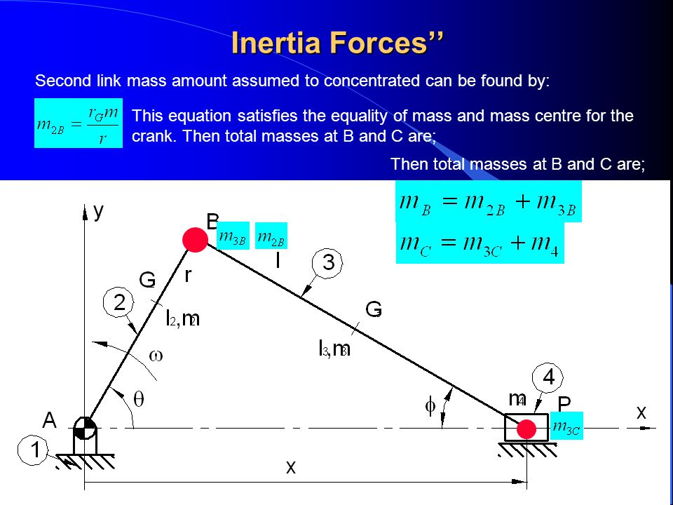 Inertia Forces'' Second link mass amount assumed to concentrated can be found by: