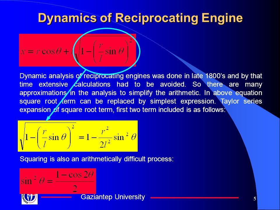 Dynamics of Reciprocating Engine