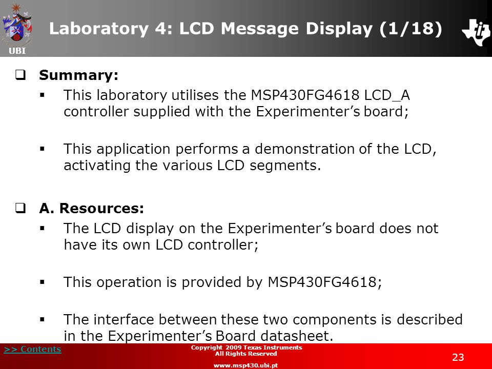 Laboratory 4: LCD Message Display (1/18)