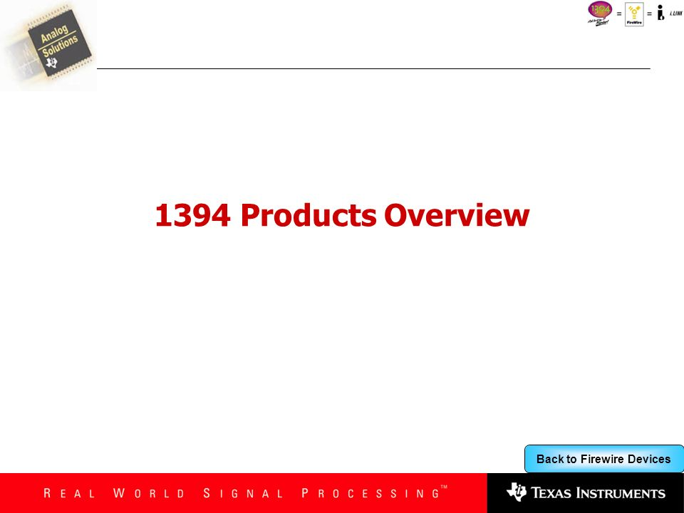 1394 Products Overview