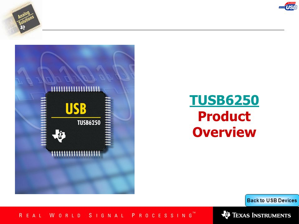 TUSB6250 Product Overview