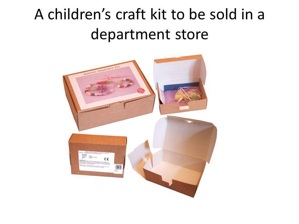 A children's craft kit to be sold in a department store
