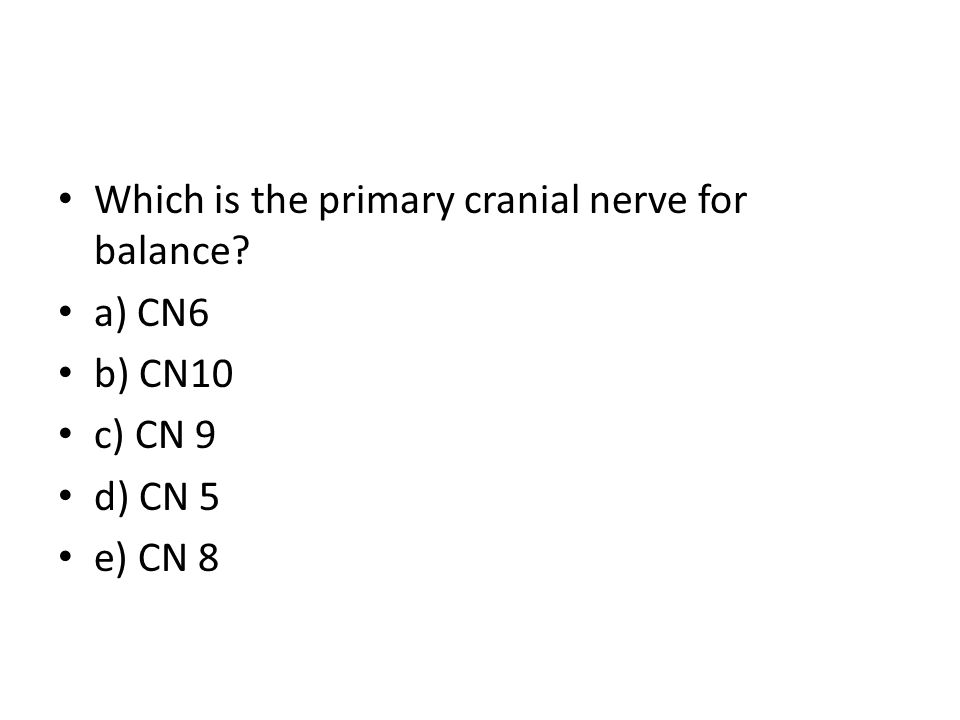 Which is the primary cranial nerve for balance