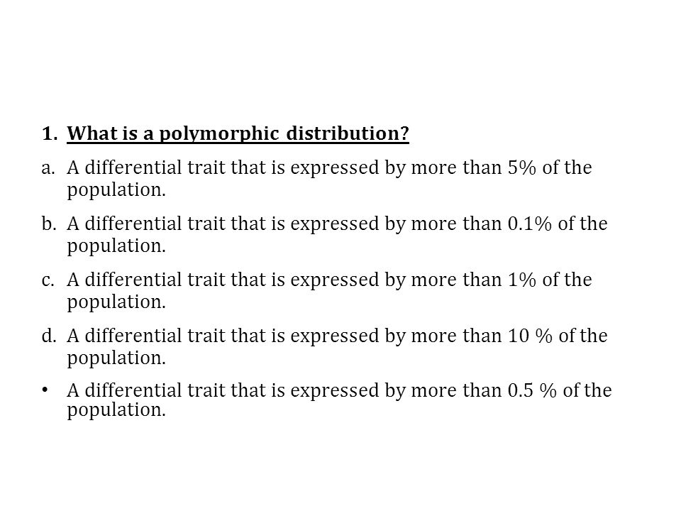 What is a polymorphic distribution
