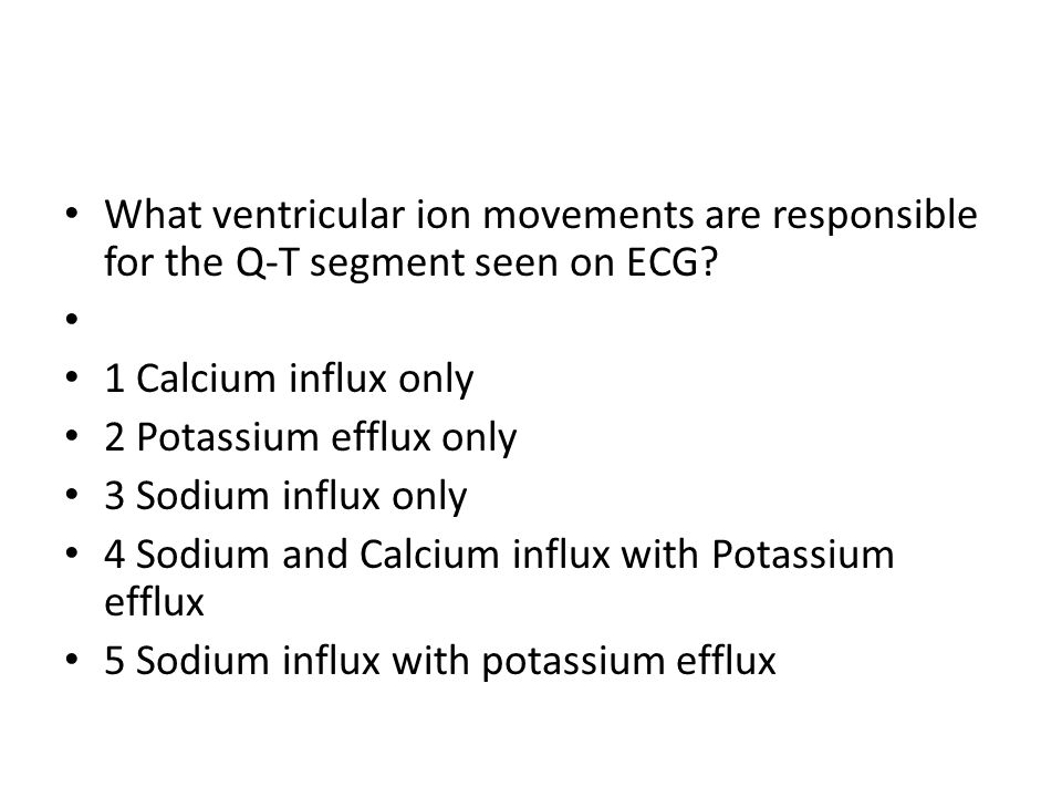 What ventricular ion movements are responsible for the Q-T segment seen on ECG