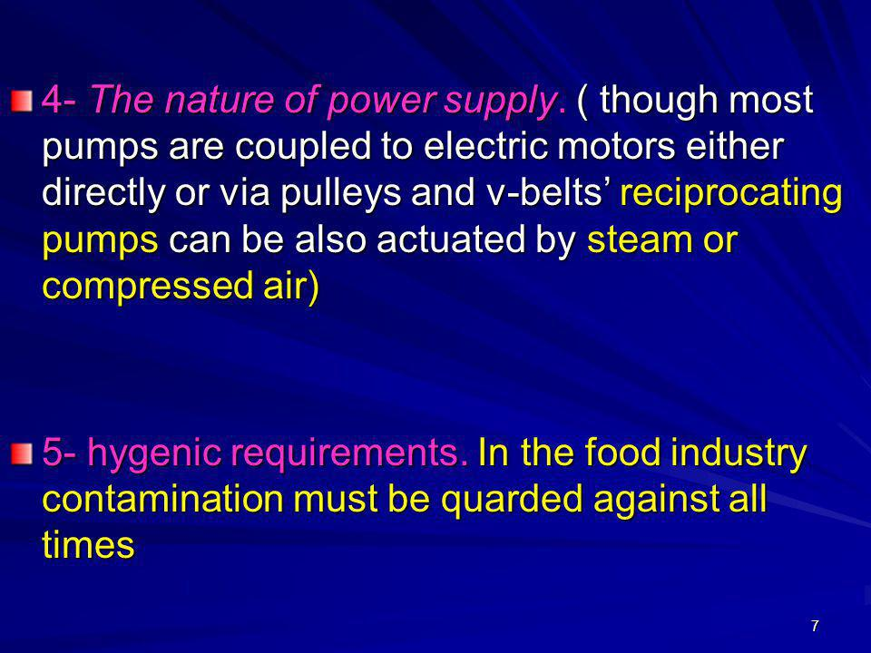 4- The nature of power supply