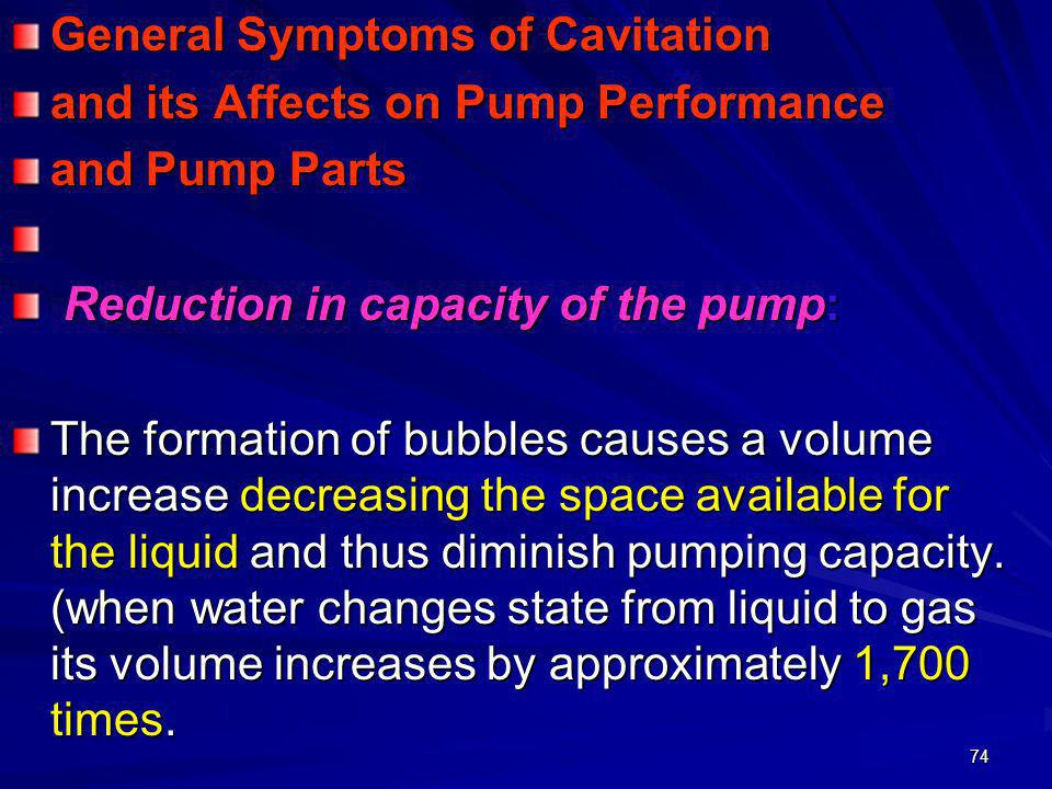 General Symptoms of Cavitation