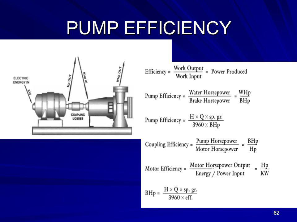 PUMP EFFICIENCY