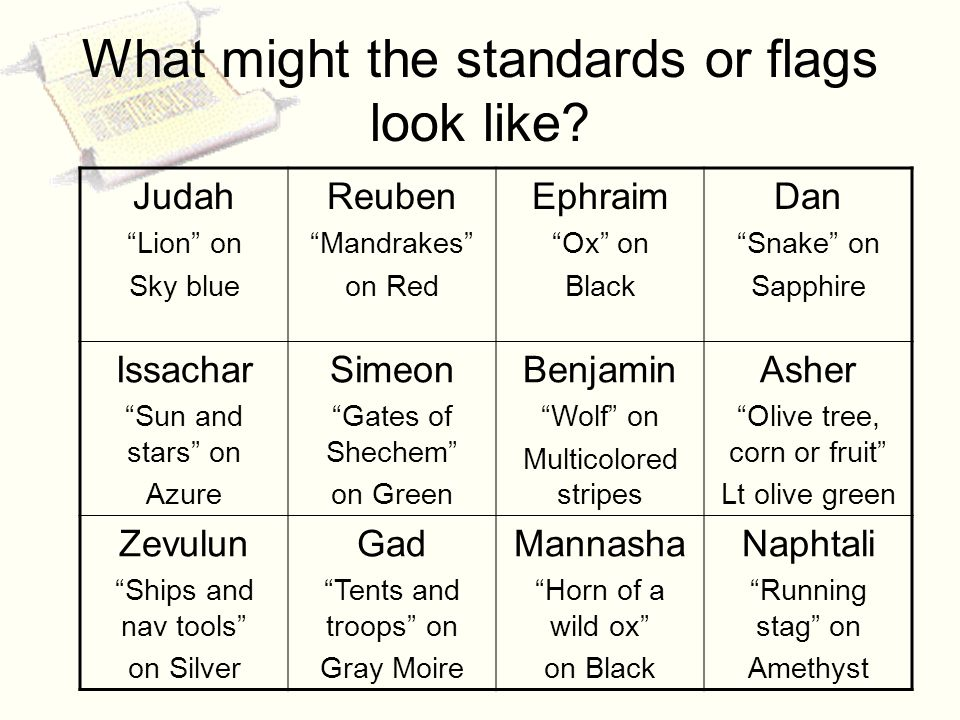 What might the standards or flags look like