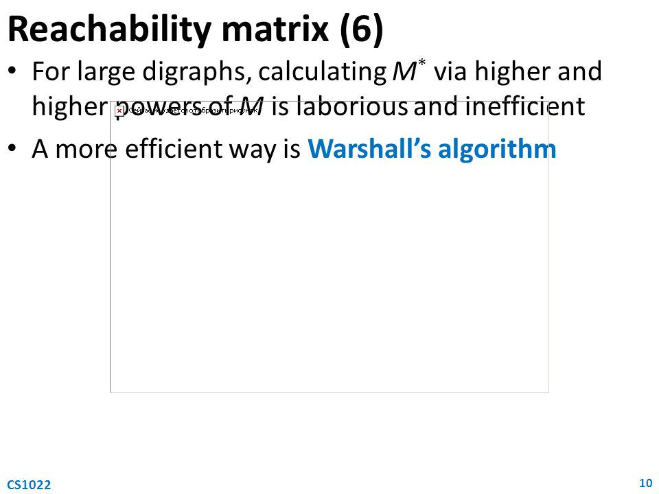 Reachability matrix (6)