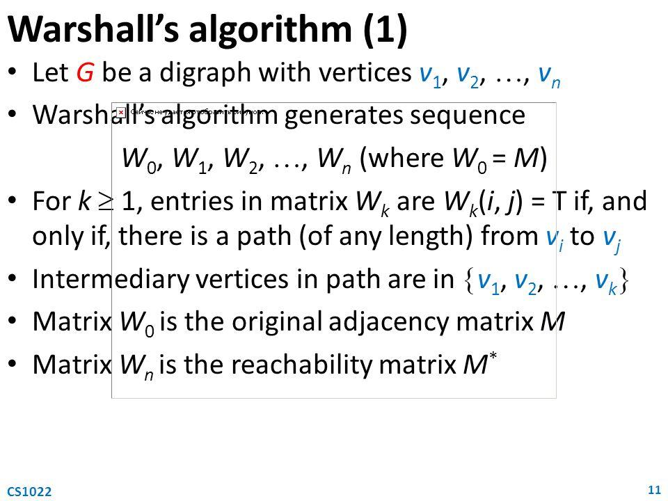 Warshall's algorithm (1)