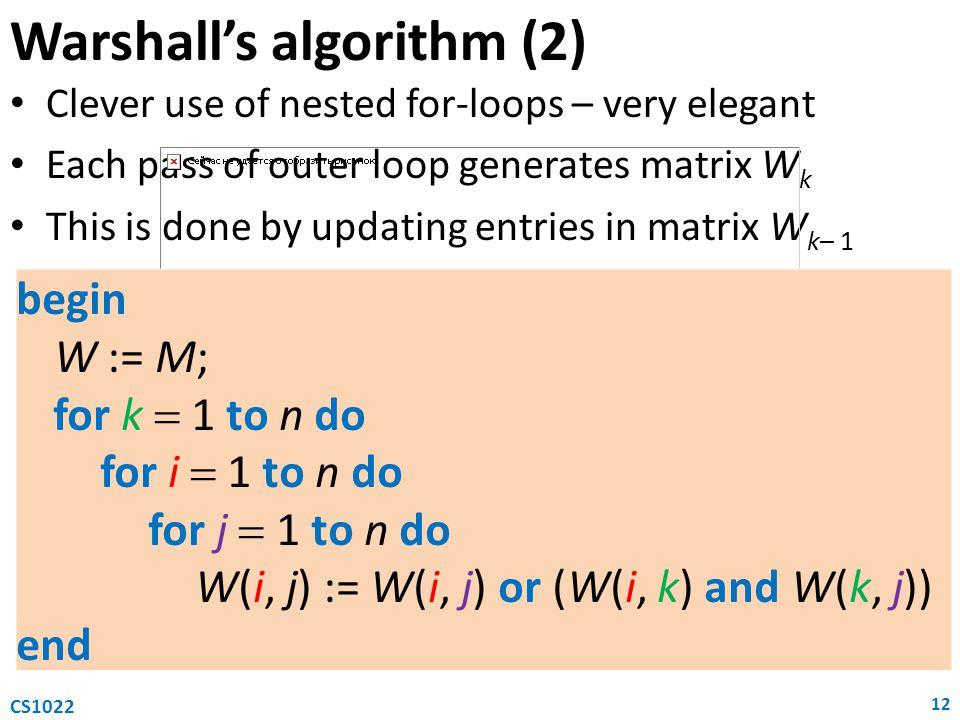 Warshall's algorithm (2)