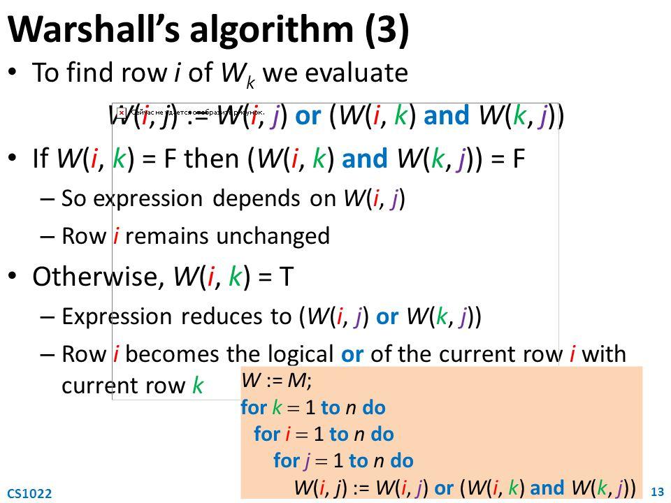 Warshall's algorithm (3)