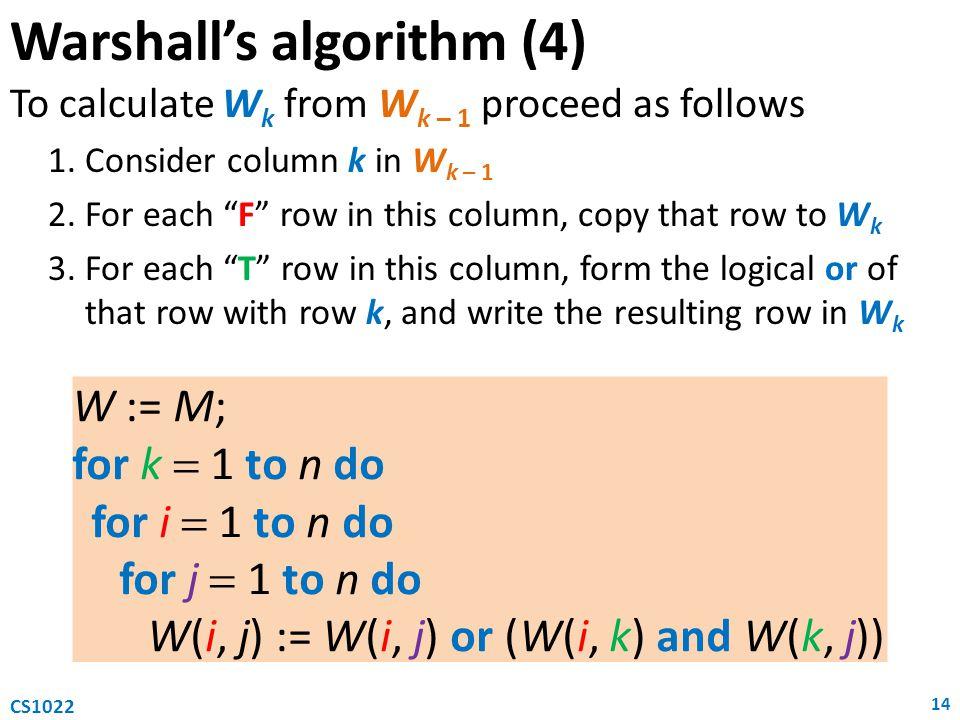 Warshall's algorithm (4)