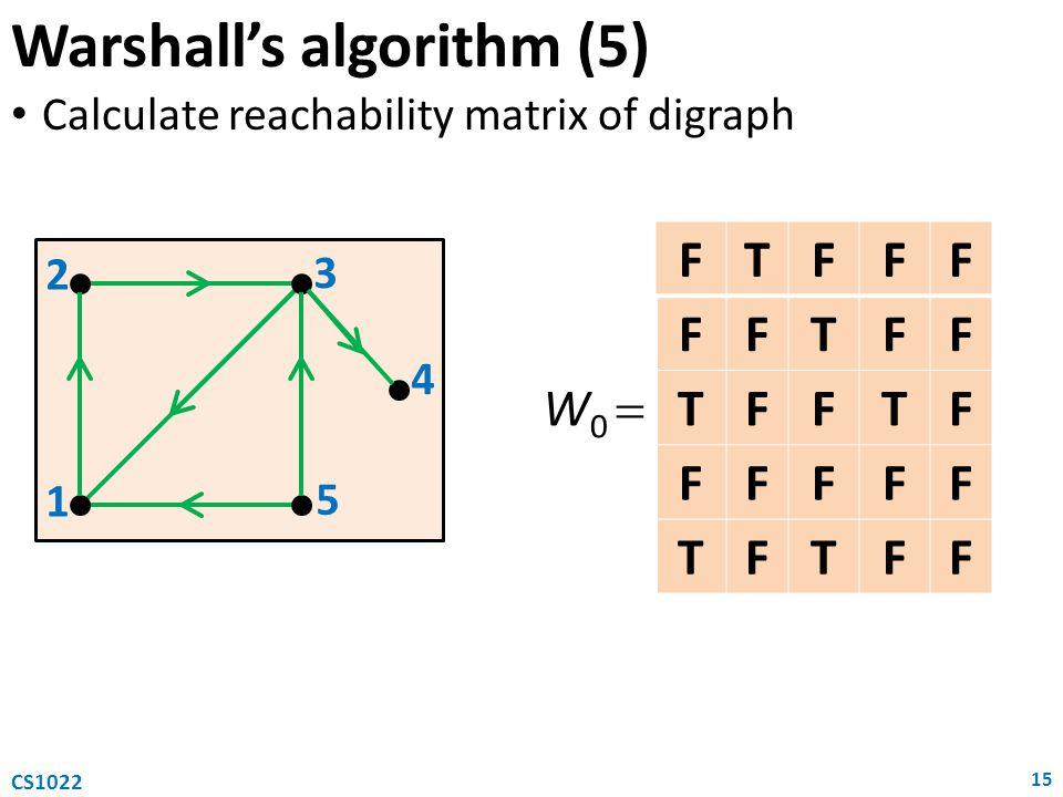 Warshall's algorithm (5)