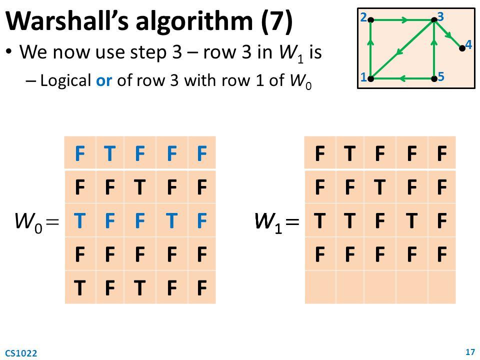 Warshall's algorithm (7)