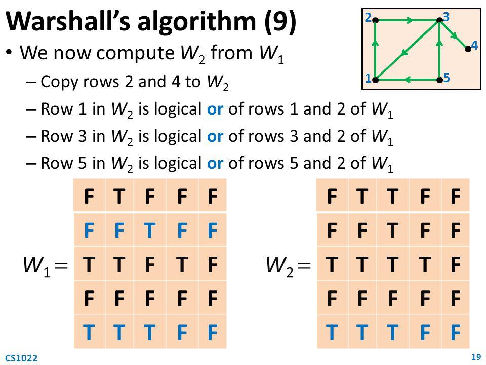 Warshall's algorithm (9)