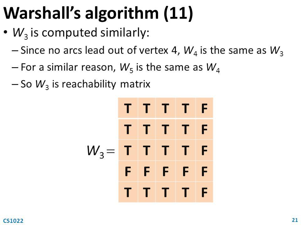 Warshall's algorithm (11)