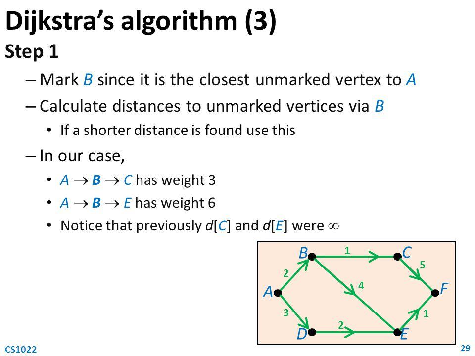 Dijkstra's algorithm (3)
