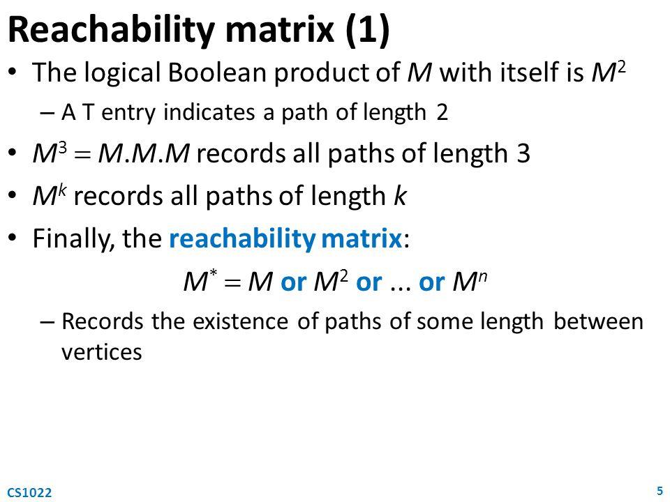 Reachability matrix (1)