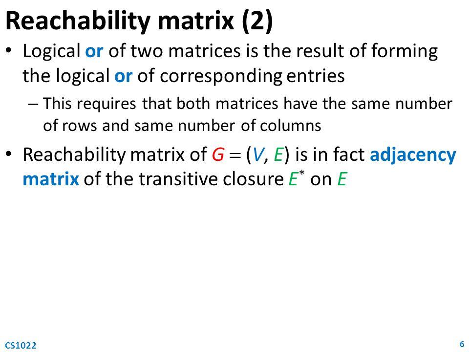 Reachability matrix (2)
