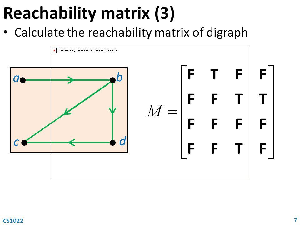 Reachability matrix (3)