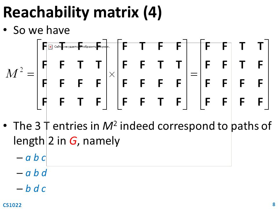 Reachability matrix (4)