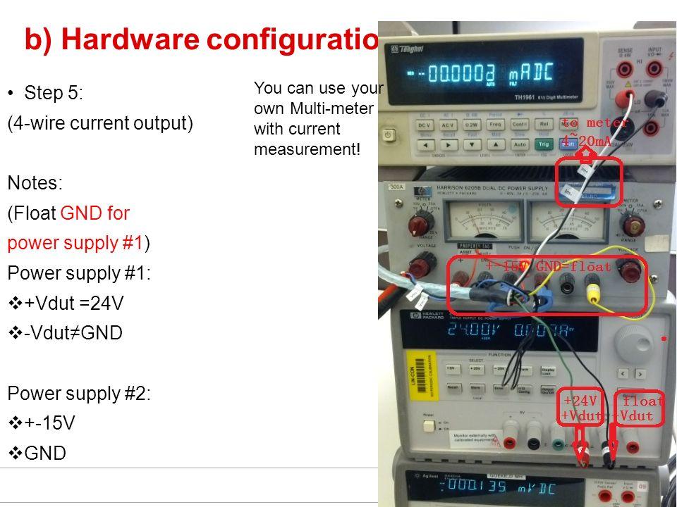 b) Hardware configuration: