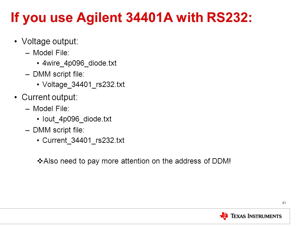 If you use Agilent 34401A with RS232: