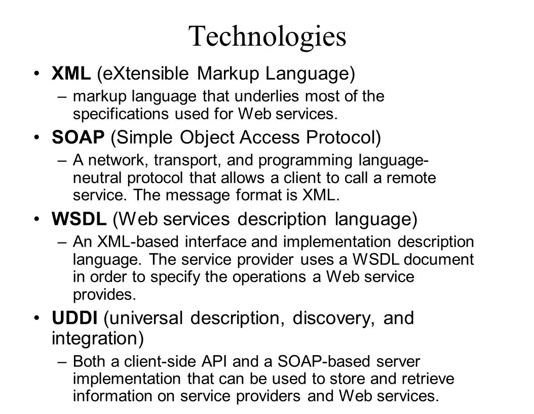 Technologies XML (eXtensible Markup Language)