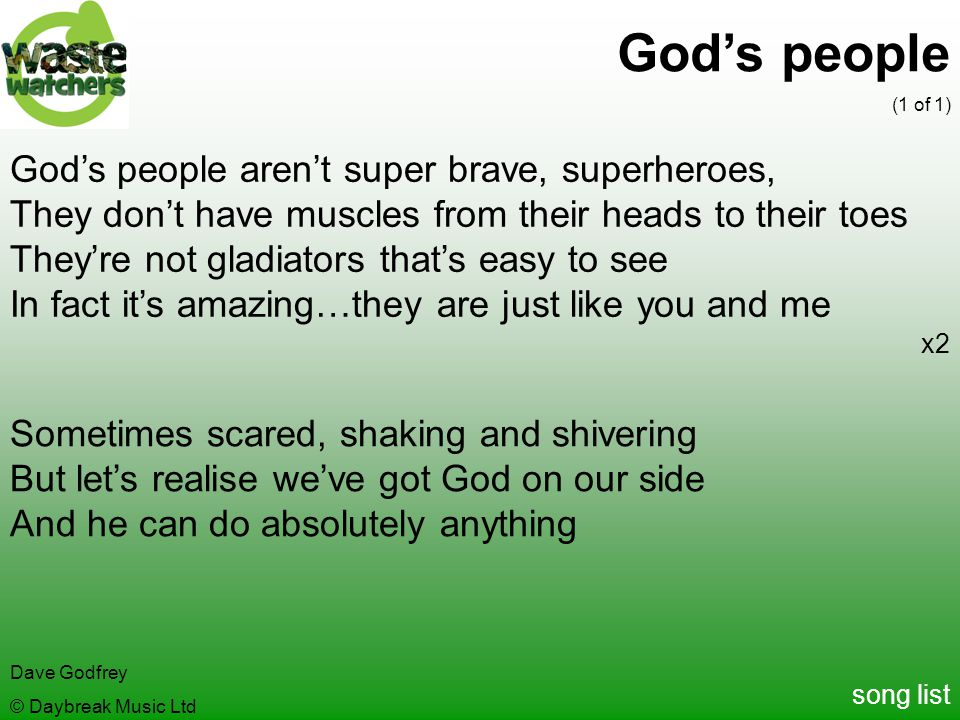 God's people God's people aren't super brave, superheroes,