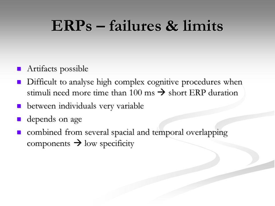ERPs – failures & limits