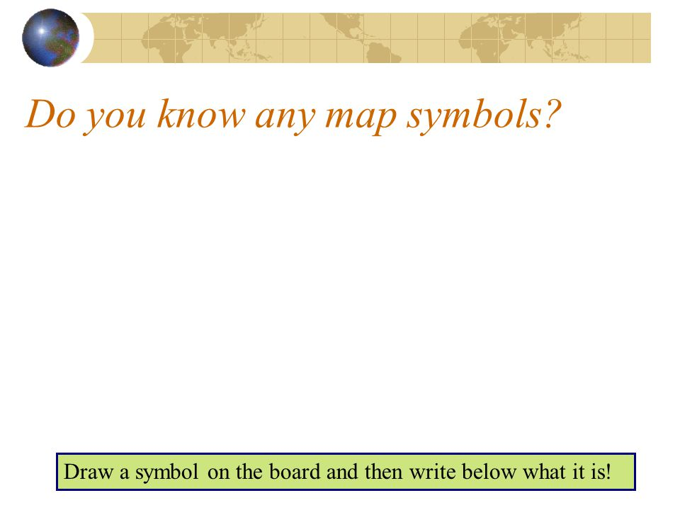 Do you know any map symbols