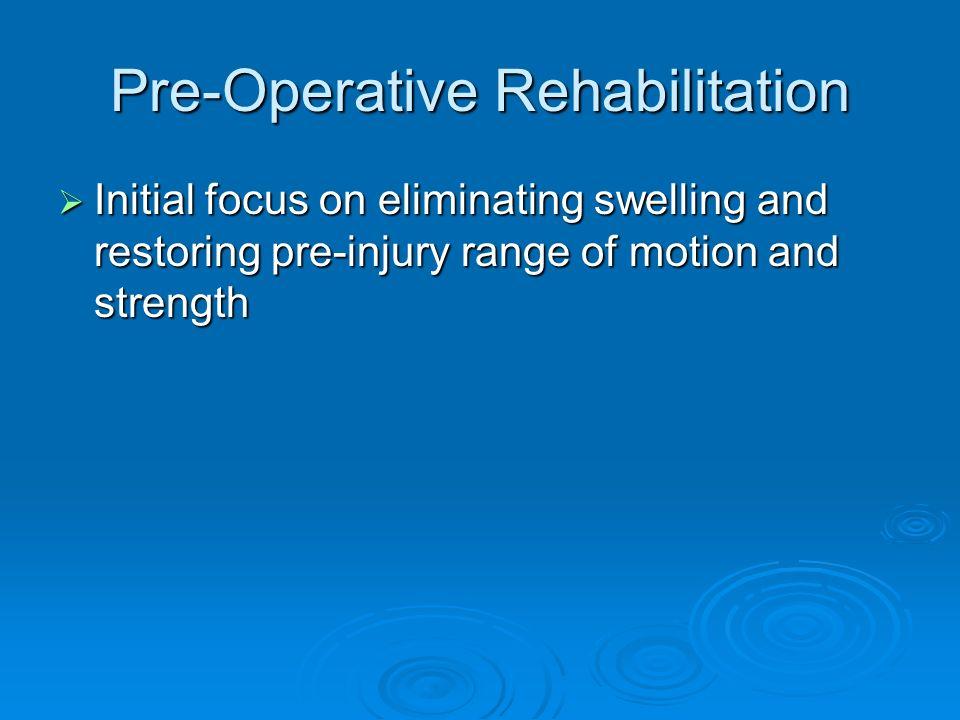 Pre-Operative Rehabilitation