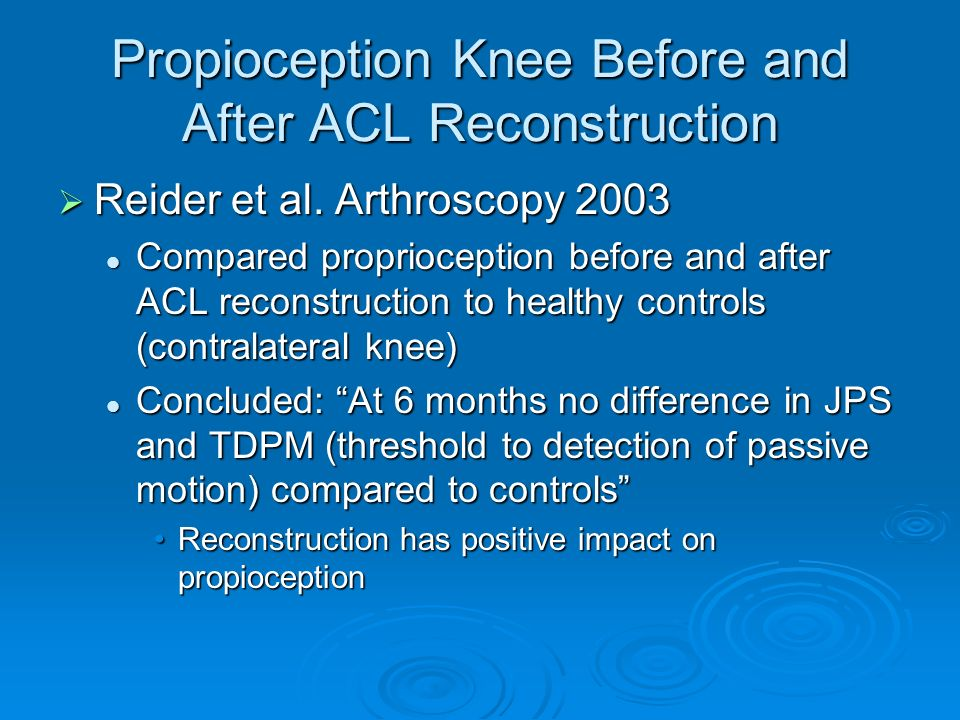 Propioception Knee Before and After ACL Reconstruction