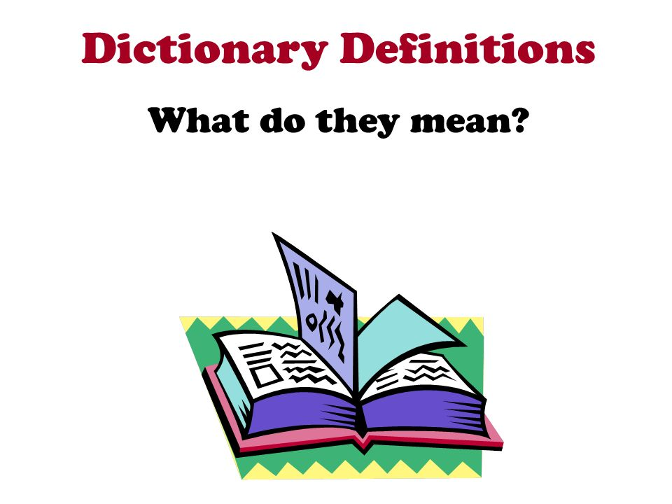 Dictionary Definitions