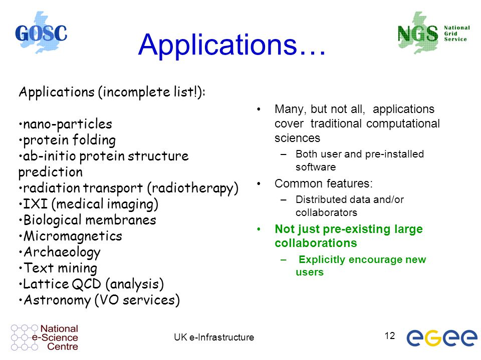 Applications… Applications (incomplete list!): nano-particles